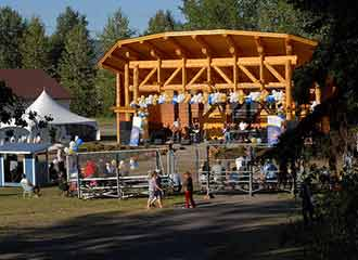 Spirit Square Amphitheatre in Houston, BC